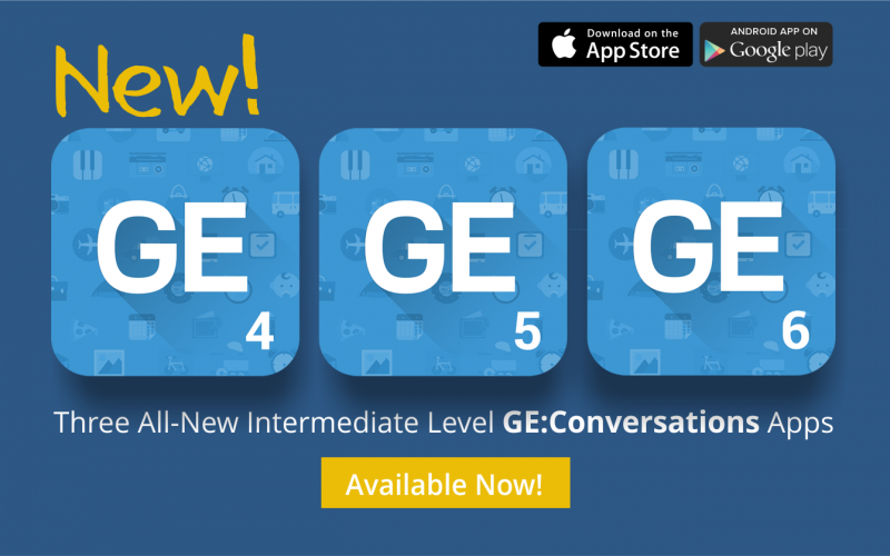 GE4,GE5,GE 6现在就可以购买在AppStore上和谷歌播放™